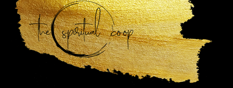The Spiritual Co-op Gold Leaf logo